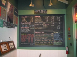Here is a picture of the menu from their website.